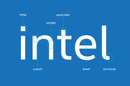 New Intel Font